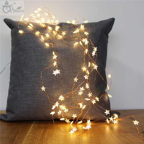 Star Copper Wire String Lights - Accessories - fnes