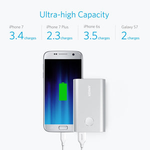 Powerbank PowerCore+ 10050 con Quick Charge 3.0 A1311H41 Anker Plata
