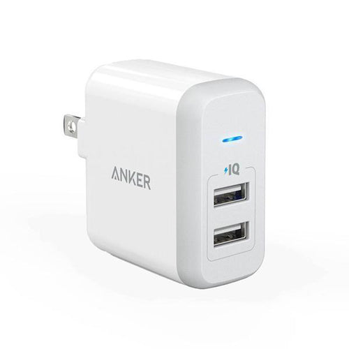 Cargador de Pared Anker POWERPORT 2, Blanco