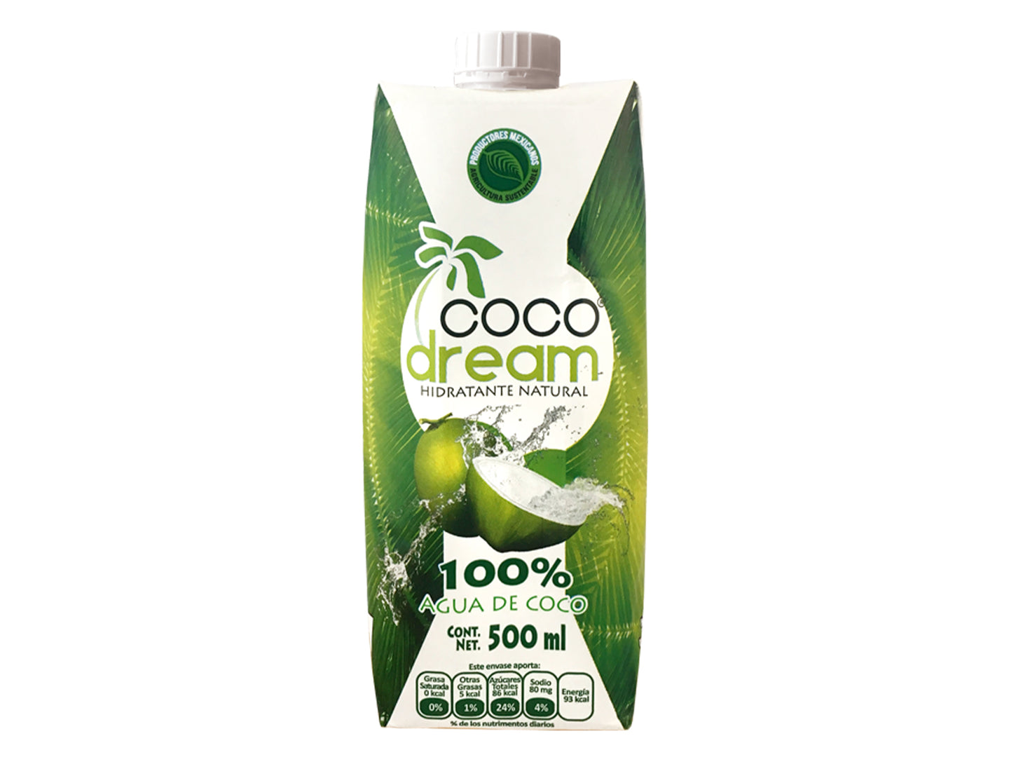 Coco Dream Agua De Coco 100% Natural Y 100% Mexicana 500ml
