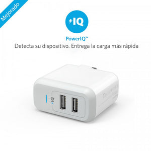 Cargador de Pared Anker PowerPort 2 B2141J24 Blanco