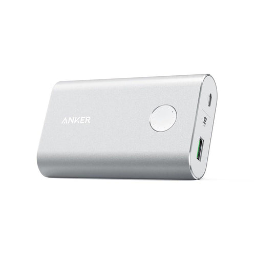 Powerbank Anker POWERCORE+ 10050 con QUICK CHARGE 3.0, Plata