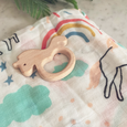 unicorn teether and swaddle