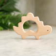 Natural Wood Teether - dinosaur