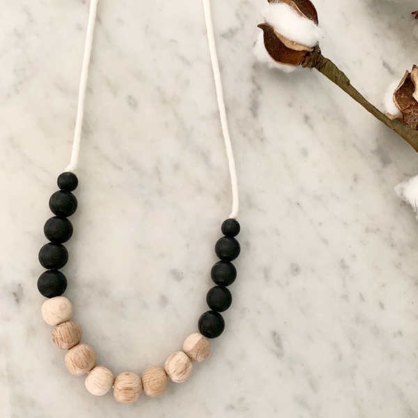 Aspen Teething Necklace (apple wood)