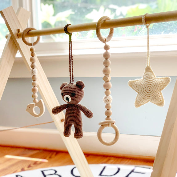 Wooden Baby Gym - buddy bear