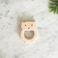 aspen and maple bear wooden teether
