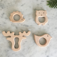 Wooden Teether Set - Forest Friends