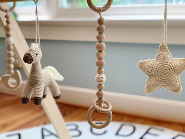 Wooden Baby Gym - happy horse