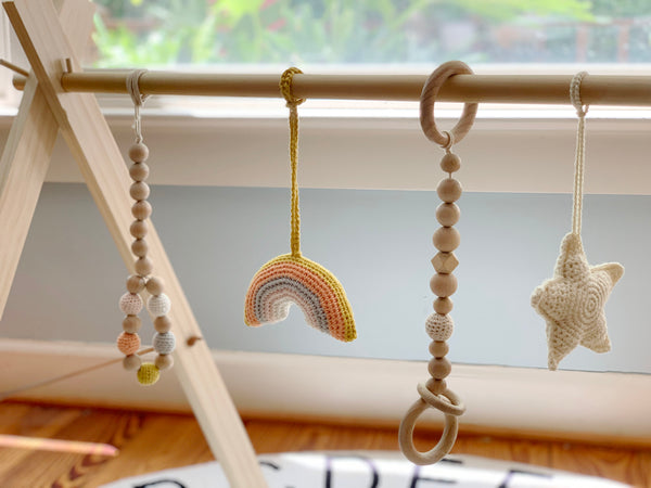 Wooden Baby Gym - rainbow dreams