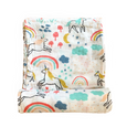 unicorn rainbow swaddle