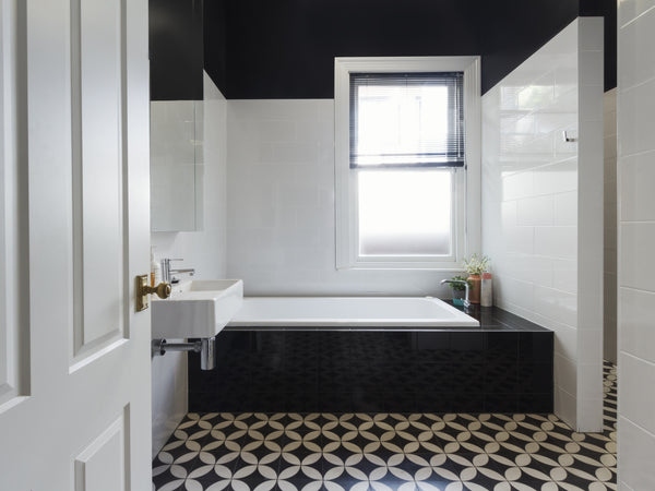 vintage black and white tile Pittsburgh