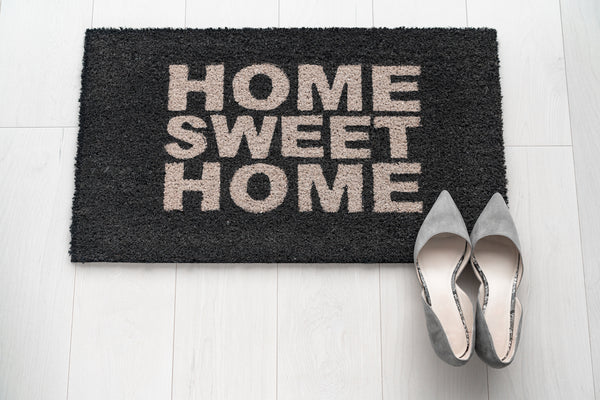 welcome mat and shoes