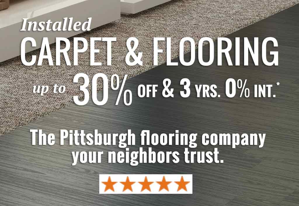 North Hills Pittsburgh Carpet and Flooring sale