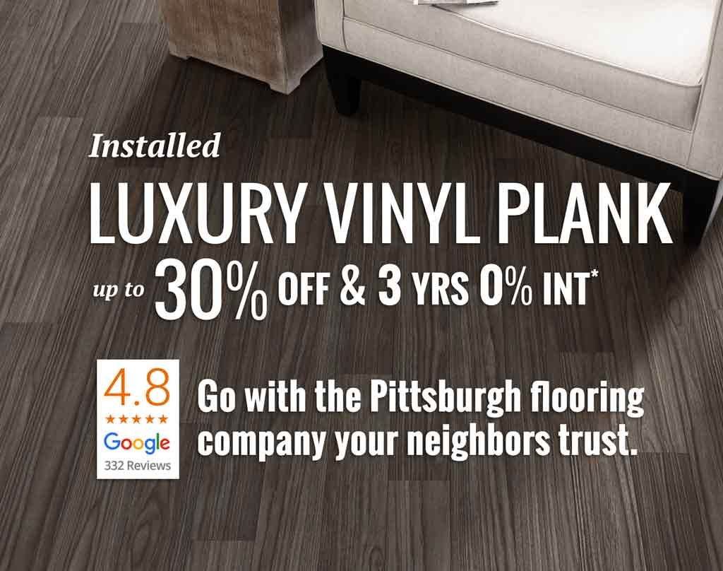 Pittsburgh luxury vinyl plank flooring sale