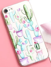 Cactus Silicone Case For iPhone X 8 8Plus 7 7Plus 6 6S 6Plus 5 5S SE Case Soft TPU Cover