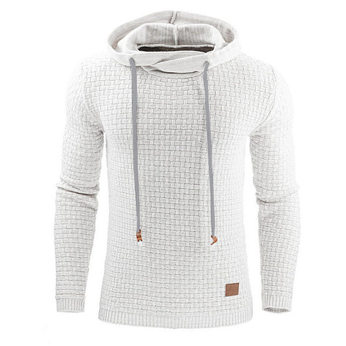 Hoodies Men Long Sleeve Solid Color Casual Sportswear