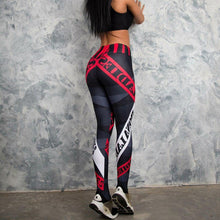Fashion Leggings Women Letter Print Fitness