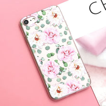 Roses Silicone Case For iPhone X 8 8Plus 7 7Plus 6 6S 6Plus 5 5S SE Case Soft TPU Cover