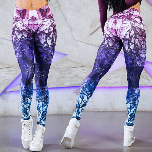 Sexy High Waist Yoga Pants for Women Sport Leggings Printed Sport Fitness Workout Running Pants