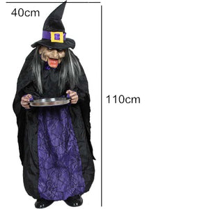 Standing Voice Control Ghost Scary Witch Electric Horror Halloween  Decoration Bar Haunted House