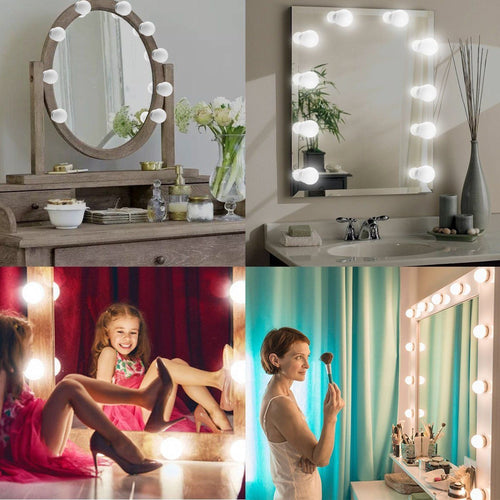 Vanity LED Mirror Light Kit For Makeup With Dimmable Light Bulb GIFT
