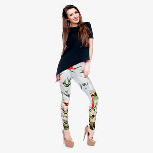 High Quality Birds of Paradise 3D Printing Women Leggings