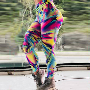 Women Leggings Rainbows Print High Quality Fitness Legging Push Up