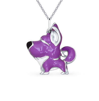 SOKOLOV - Doggy Pendant - 925 Silver With Enamel, Purple
