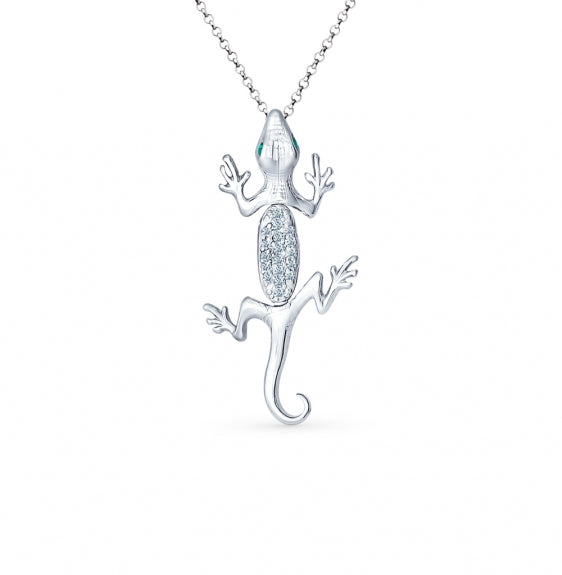 SOKOLOV - Lizard Pendant - Sterling Silver With CZ