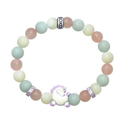 SOKOLOV JUST - Enameled Silver Unicorn Bracelet With Quartz And Amazonite Stones