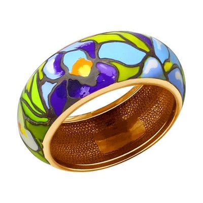 SOKOLOV - Van Gogh Iris Ring - Gold Plated Silver With Enamel, Multicolor