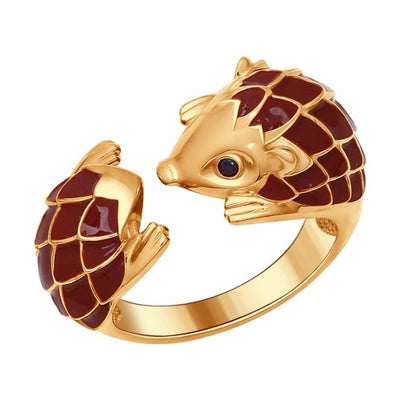 SOKOLOV - Hedgehog Gold-plated Open Ring