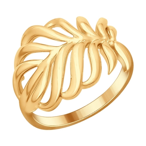 SOKOLOV - Leaf Ring - Gold Plated Silver 925
