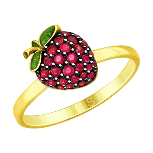 SOKOLOV - Strawberry Gold Plated  Ring - Fall Harvest Collection