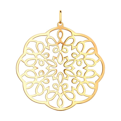 SOKOLOV - Gold-plated Silver Lace Pendant