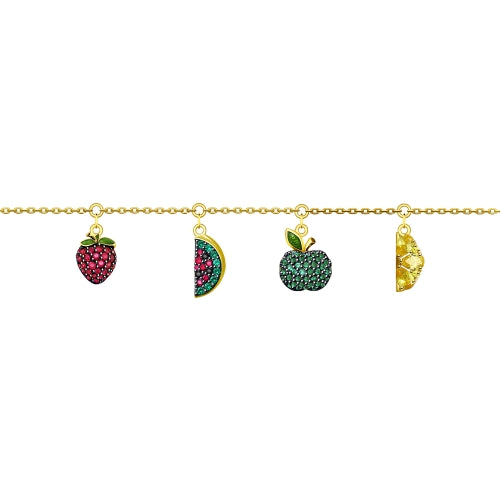 SOKOLOV - Fruits Silver Gold Plated Bracelet - Fall Harvest Collection