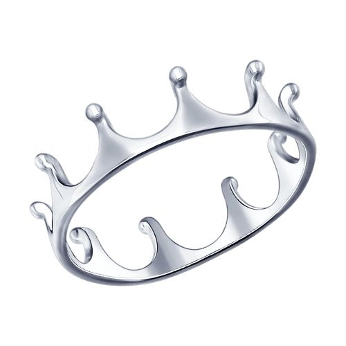 SOKOLOV - Crown Simple Ring - 925 Sterling Silver