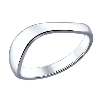 SOKOLOV - Basic Wave Band Ring, Silver