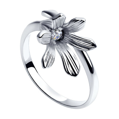 SOKOLOV - Silver Flower Wrap Ring