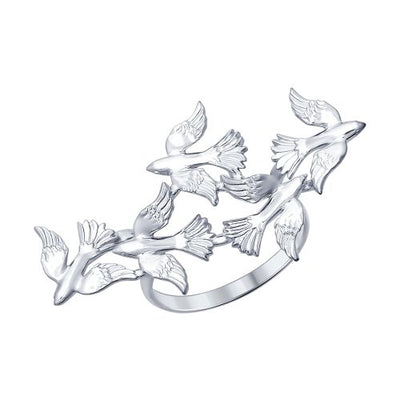 SOKOLOV - Doves Flying Ring - Silver 925
