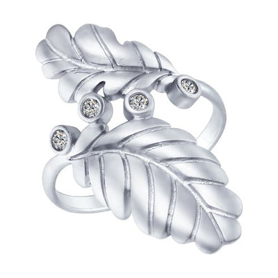 SOKOLOV - Silver Leaves Ring, With CZ