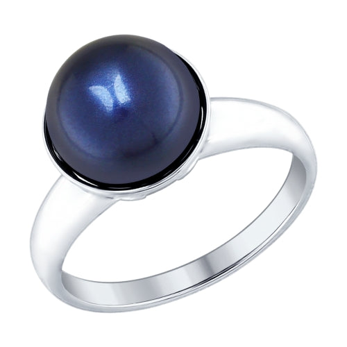 SOKOLOV - Sterling Silver Ring With Blue Swarovski Pearl, Night Stars Collection