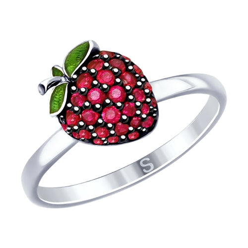 SOKOLOV - Strawberry Silver  Ring - Fall Harvest Collection