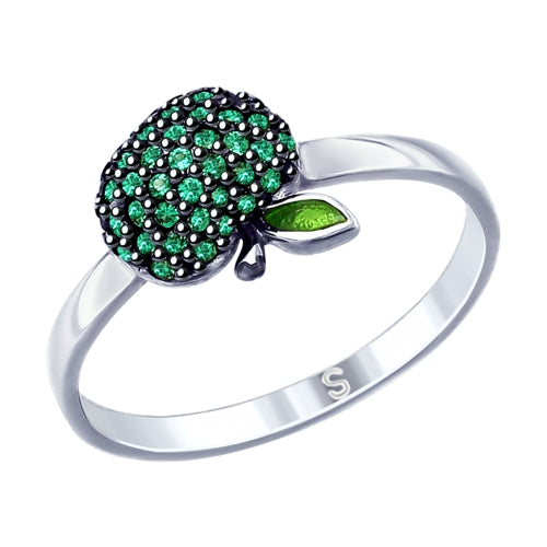 SOKOLOV - Green Apple Silver Ring - Fall Harvest Collection