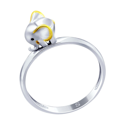 SOKOLOV - Baby Elephant Ring, Gold Plated Silver