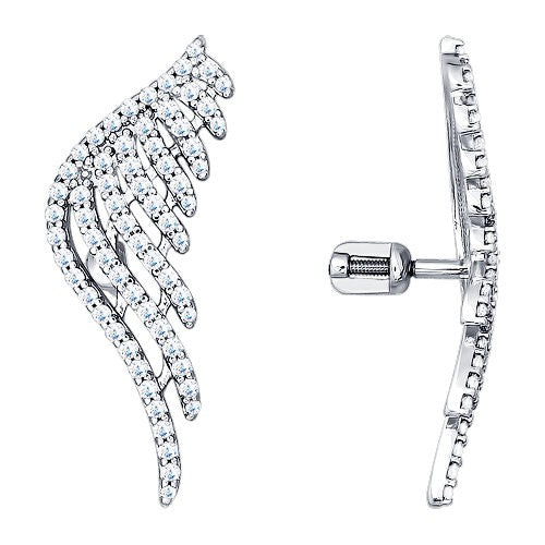 SOKOLOV - Wings Stud Earrings With Phianites