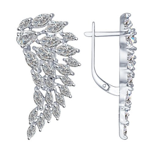 SOKOLOV - Wings Earrings - Silver With CZ