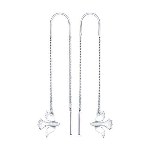 SOKOLOV - Chain Feel Free Dove Earrings - Sterling Silver 925