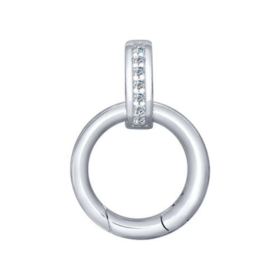 SOKOLOV - Carabiner For Pendants - Silver 925 With Cubic Zirconia